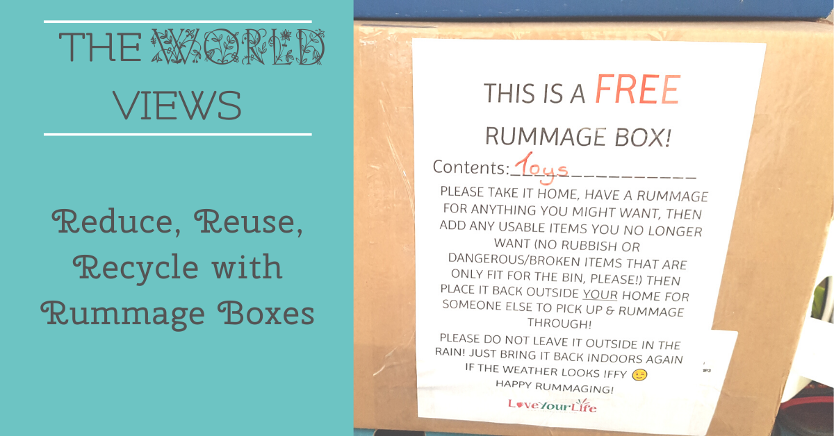 Reduce, Reuse, Recycle with Rummage Boxes!